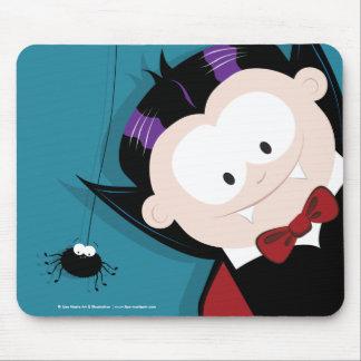 Cute Cartoon Vampire & Spider Halloween Mousepads
