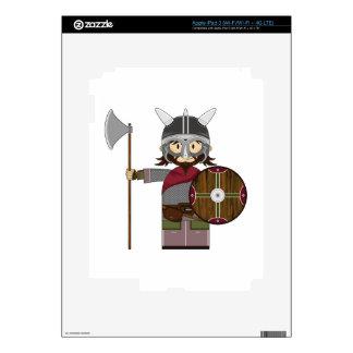 Cute Cartoon Viking Warrior iPad 3 Skin