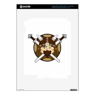 Cute Cartoon Viking Warrior Skins For iPad 3