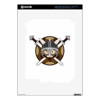 Cute Cartoon Viking Warrior iPad 3 Skins