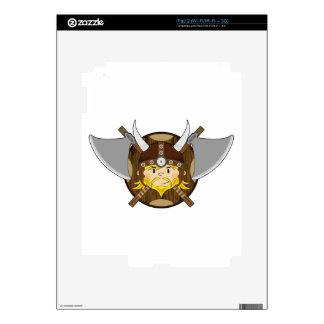 Cute Cartoon Viking Warrior Decals For The iPad 2