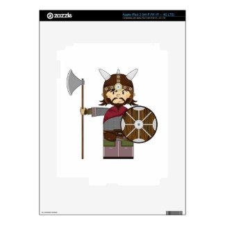 Cute Cartoon Viking Warrior Decal For iPad 3