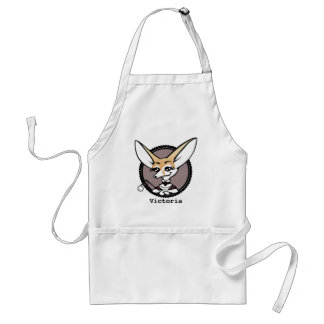 CUTE CARTOON VINTAGE STYLE FENNEC FOX APRON