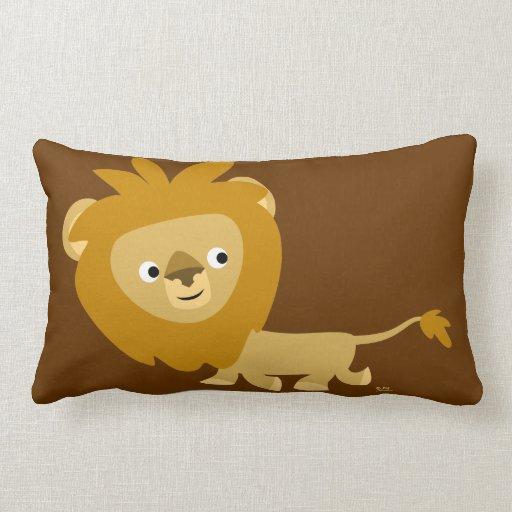 Cute Lion Pillow : Cute Cartoon Walking Lion Pillow Zazzle