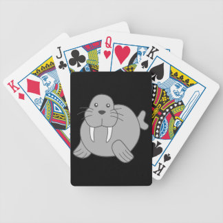 Cute Cartoon Walrus Bicycle Playing Cards