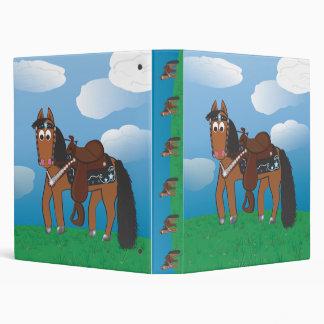 Cute Cartoon Western Horse Binder