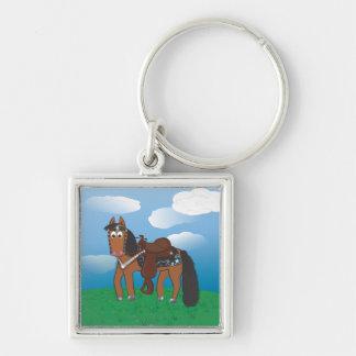 Cute Cartoon Western Horse Keychain