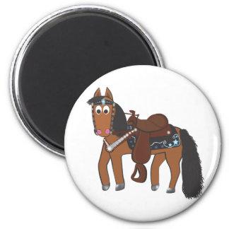 Cute Cartoon Western Horse Refrigerator Magnet