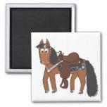 Cute Cartoon Western Horse Magnets