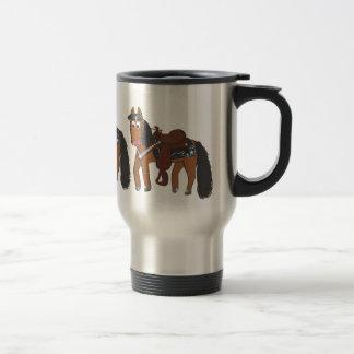 Cute Cartoon Western Horse Travel Mug