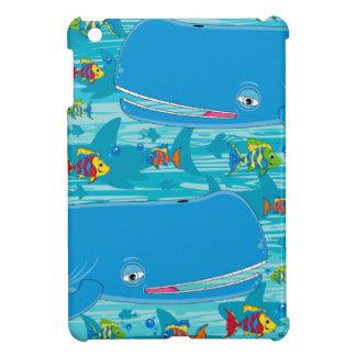 Cute Cartoon Whale iPad Mini Cover