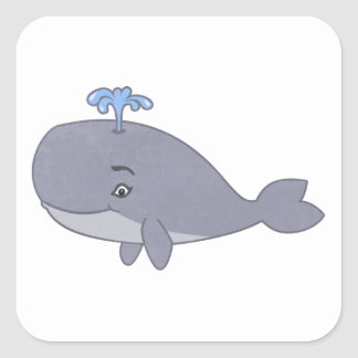 Cute Cartoon Whale Stickers