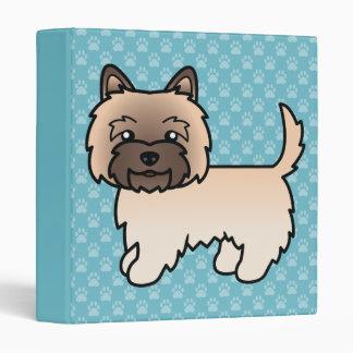 Cute Cartoon Wheaten Cairn Terrier Vinyl Binders
