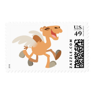 Cute Cartoon Winged-Camel Postage Stamp