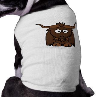 Cute Cartoon Yak Doggie Tshirt