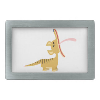Cute Cartoon Yawning Thylacine Belt Buckle