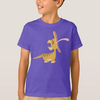 Cute Cartoon Yawning Thylacine Kids T-Shirt