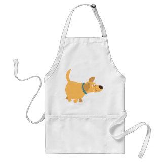 Cute Cartoon Yellow Labrador Apron