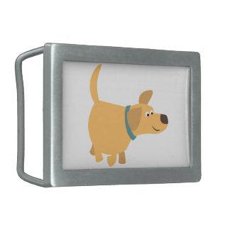 Cute Cartoon Yellow Labrador Belt Buckle