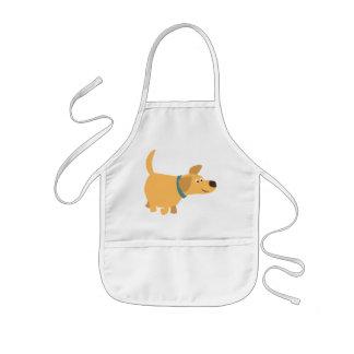 Cute Cartoon Yellow Labrador Children Apron