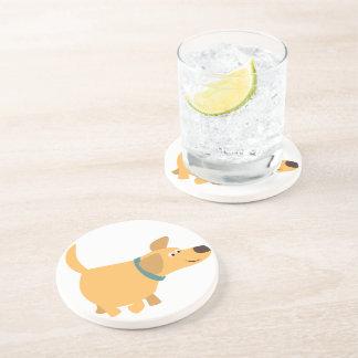 Cute Cartoon Yellow Labrador Coaster