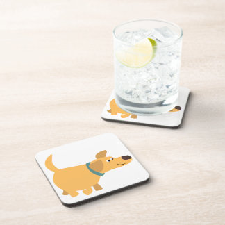 Cute Cartoon Yellow Labrador Coasters Set