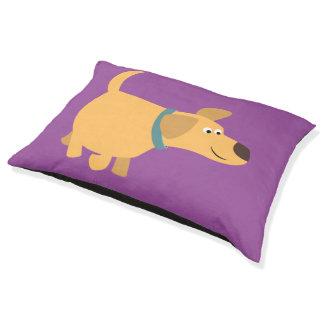 Cute Cartoon Yellow Labrador Dog Bed