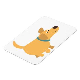 Cute Cartoon Yellow Labrador Flexible Magnet