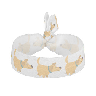 Cute Cartoon Yellow Labrador Hair Tie