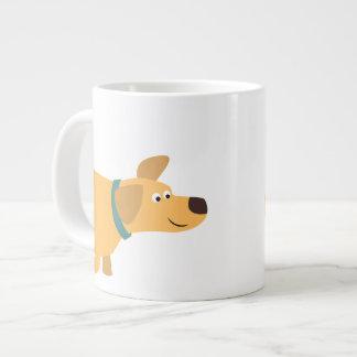 Cute Cartoon Yellow Labrador Jumbo Mug