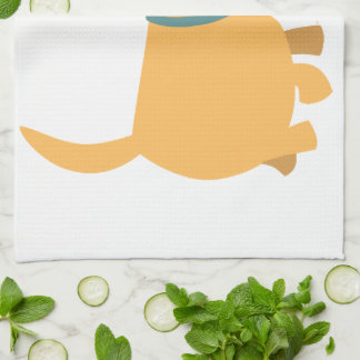 Cute Cartoon Yellow Labrador Kitchen Towel