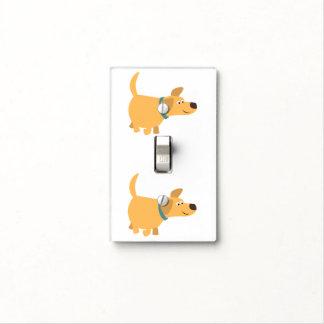 Cute Cartoon Yellow Labrador Light Switch Cover
