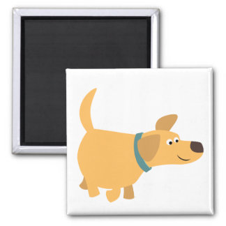 Cute Cartoon Yellow Labrador Magnet