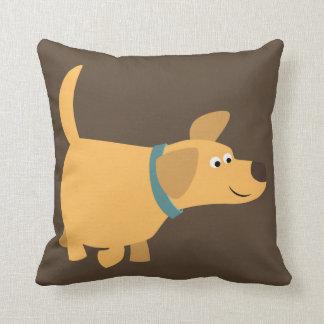 Cute Cartoon Yellow Labrador Pillow