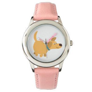 Cute Cartoon Yellow Labrador Watch
