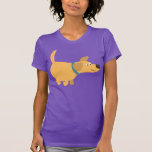 Cute Cartoon Yellow Labrador Women T-Shirt