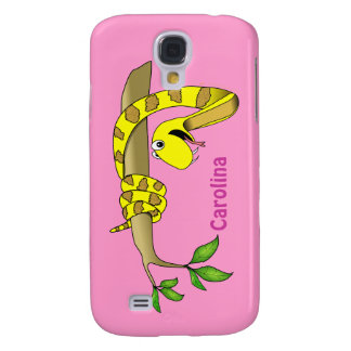 Cute Cartoon Yellow Snake in a Tree Reptile Custom Samsung Galaxy S4 Case