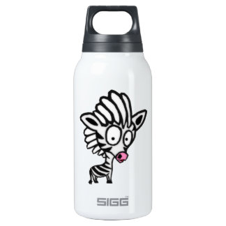 Cute Cartoon Zebra 10 Oz Insulated SIGG Thermos Water Bottle