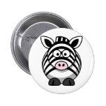 Cute Cartoon Zebra Buttons