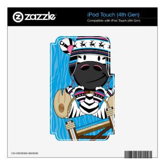 Cute Cartoon Zebra Decals For iPod Touch 4G