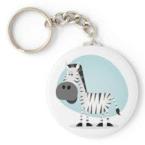 Cute Cartoon Zebra Keychain