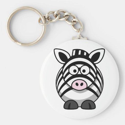 Cute Cartoon Zebra Keychains