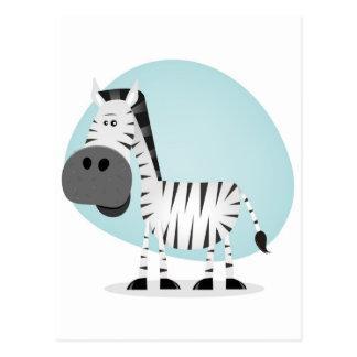 Cute Cartoon Zebra Postcard