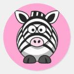 Cute Cartoon Zebra Sticker