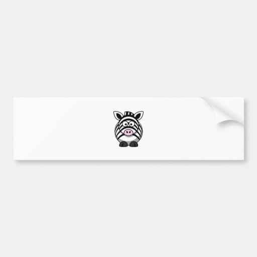 cute cartoon zebra template bumper sticker zazzle. Black Bedroom Furniture Sets. Home Design Ideas