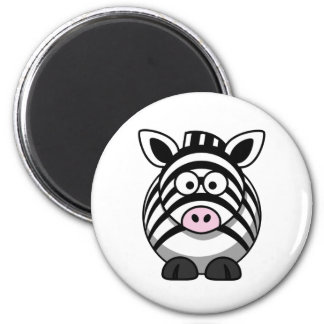 Cute Cartoon Zebra Template Magnet