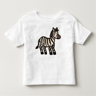 Cute Cartoon Zebra Toddler Shirt