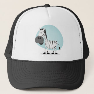 Cute Cartoon Zebra Trucker Hat