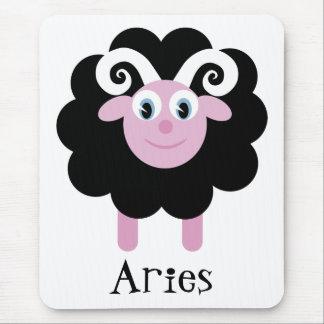 Cute Cartoon Zodiac Aries Ram Mouse Pad