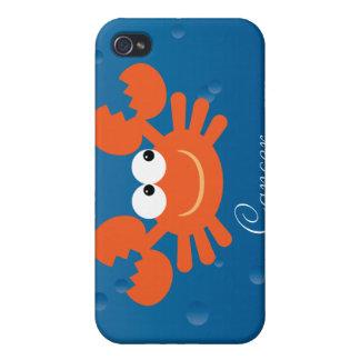 Cute Cartoon Zodiac Cancer Crab Custom iPhone 4/4S Cases
